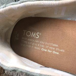 997ce1a03487b TOMS Women's Classic Leaf Green Slub Chambray Sz8